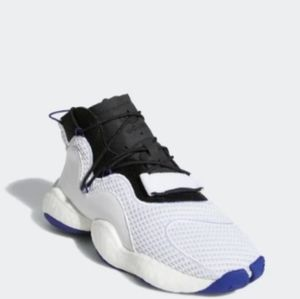 Adidas crazy Byw j lace up purple white sneakers